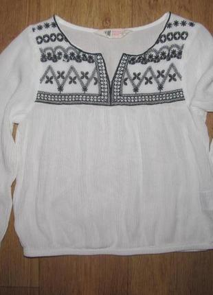 Фирменная блуза h&m девочке 10-11 лет