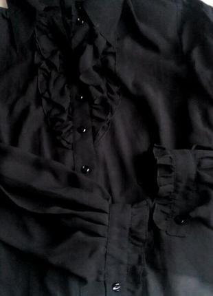 Стильная блуза рюши