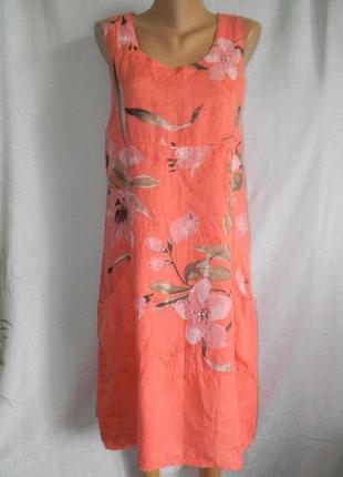 Новое платье лен италия