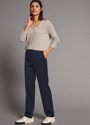 Новые синие прямые брюки/штаны autograph marks&spencer