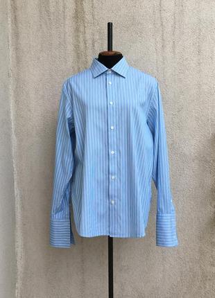 Голубая рубашка calvin klein оригинал