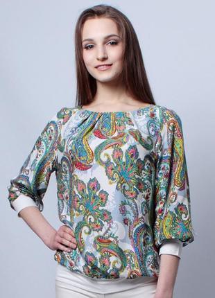 Эффектная блуза из штапеля.   распродажа ! р-р. 44,46,48,50,52,56.