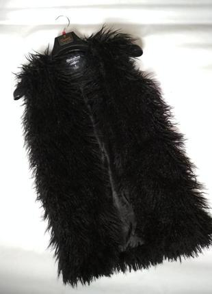 Шикарная меховая жилетка под ламу!