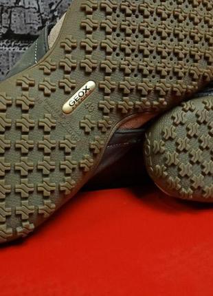 Кожаные шлепанцы вьетнамки geox оригинал9 фото