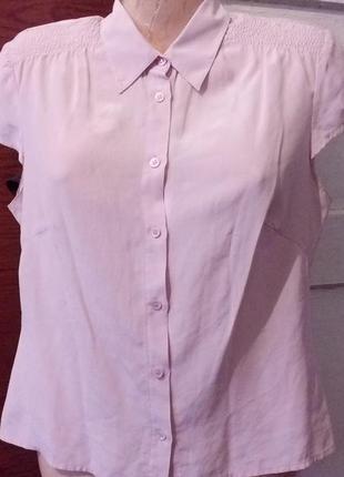Шёлковая блуза-рубашка от laura ashly.100%шёлк.
