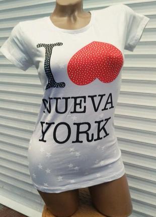 Красивая белая футболка 💗 турция 💗