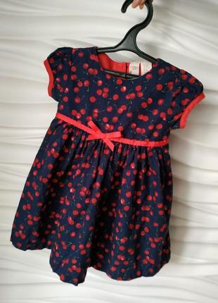 Яркое летнее платье сарафан strawberry faire на 12-18 мес