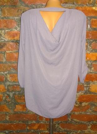 Блуза кофточка с драпировкой george трендового лилового оттенка