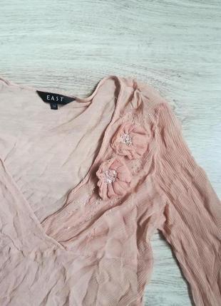 Шелковая бежевая блуза!