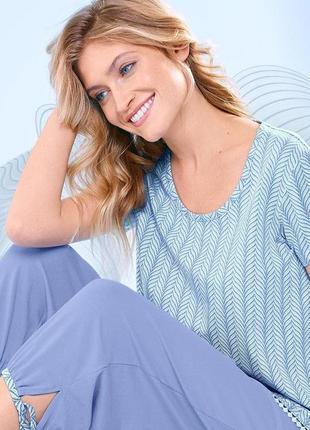 Мягенькие пижамные бриджи для дома и сна от tcm tchibo, германия, размер 40-42, 44-46 евро