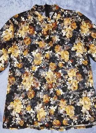 Ажурная, гипюровая, цветочный принт, стильная, модная блуза, блузка
