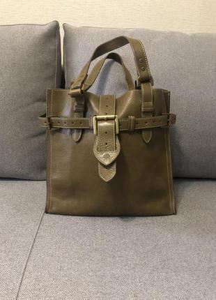 Шикарная кожаная сумка mulberry