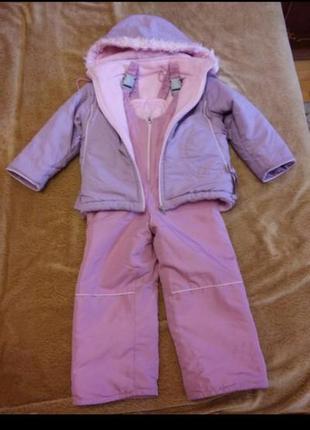 Комбинезон зимний и куртка для девочки