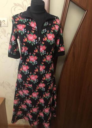 Красивое платье в цветочный принт полная распродажа вещей все без торга !