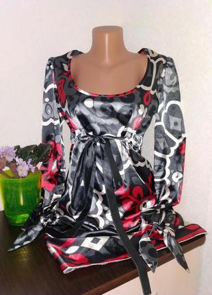 Атласное платье.