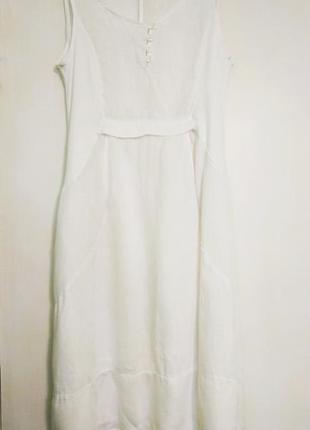 fcf6582509a Белоснежное платье сарафан 100% лён м италия Италия