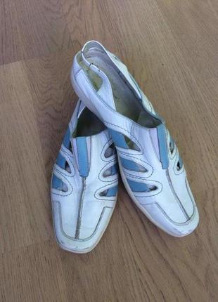 Туфли мокасины спортивного типа с открытой пяткой кожа