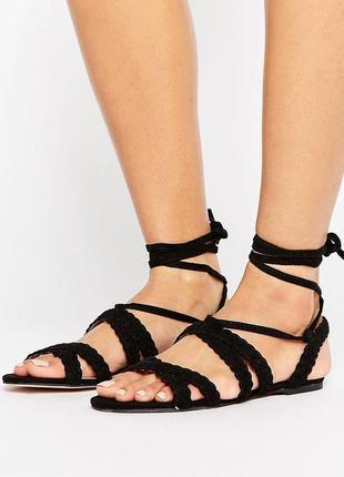 Нежные босоножки сандалии с завязками асос asos faith