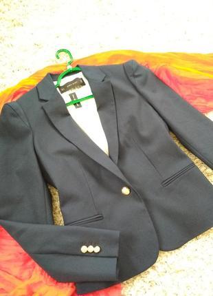 Актуальный стильный пиджак темно синий, zara, p. m