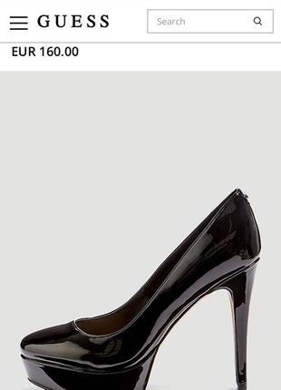 Guess лакированные лодочки туфли