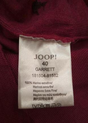 Джемпер joop шерсть мериноса малиновый9 фото