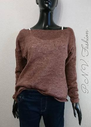 Супер нежный свитер накидка с люрексом