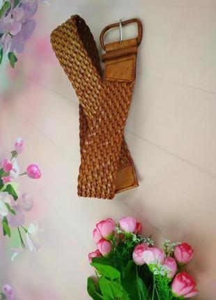 Пояс кожаный плетенный
