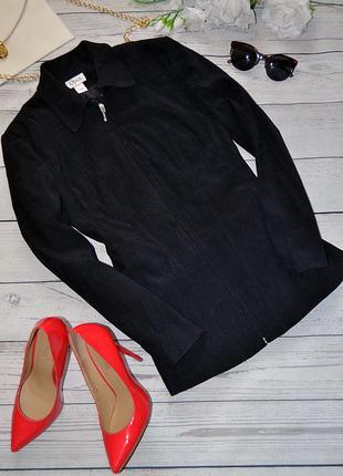 Приталенный женский пиджак / куртка на молнии