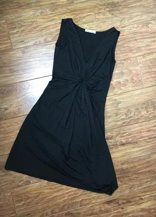 Летнее чёрное платье, ткань масло