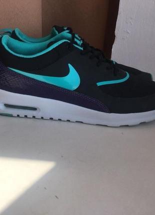 Чорні бірюзові кросівки nike air max