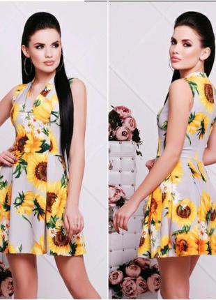 Красивое летнее платье подсолнухи🌻