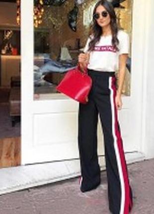 Ambika шикарные штаны-джоггеры в стиле спорт-шик с лампасами по бокам !