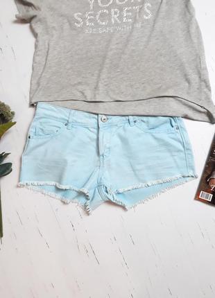 Голубые шорты denimco /uk83 фото