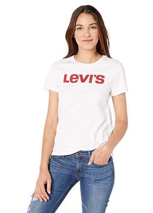 Белая женская футболка levi's! новая, оригинал!