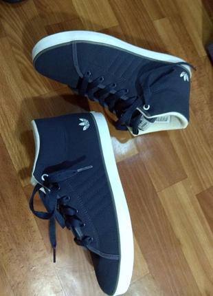 Стильные фирменные хайтопы adidas р.37,5 ст.24,5см кроссовки кеды