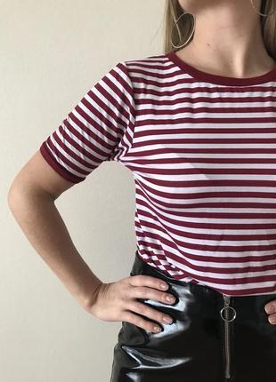 Базовая футболка boohoo в полоску из натуральной ткани ♥️