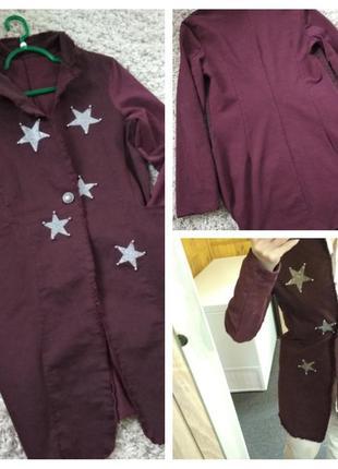 Стильный удлиненный жакет пиджак, vanilla италия, р. 38-40