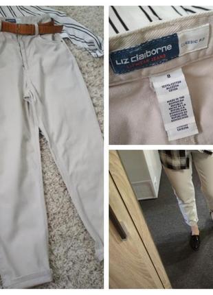 Актуальные светлые джинсы в стиле мом, liz claiborne, p. 8-10