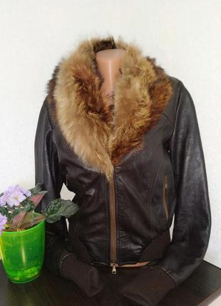 Кожаная куртка италия. цена снижена!!!
