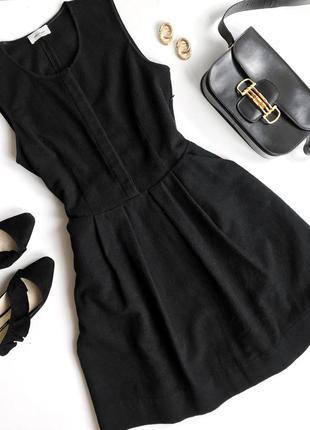 Чёрное шерстяное платье ottod'ame в стиле max mara cucinelli