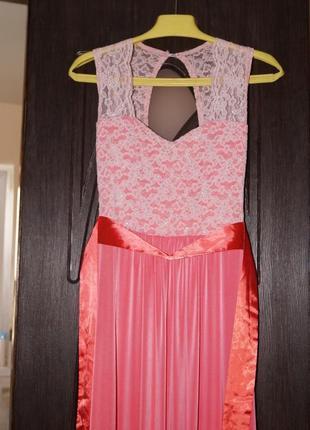 Платье караловое