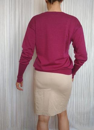 Джемпер joop шерсть мериноса малиновый2 фото