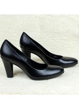 Классические туфли кожаные ecco shape 75 round elegant оригинал 38р. 25 см.