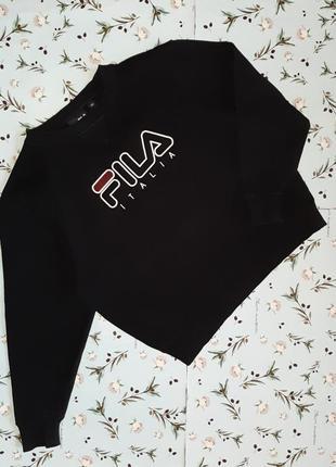 Акция 1+1=3 фирменный черный свитер толстовка fila на мальчика 9 - 10 лет