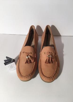 Кожаные  мокасины слипоны туфли caprice германия {размеры с 36 по 41}3 фото