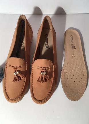 Кожаные  мокасины слипоны туфли caprice германия {размеры с 36 по 41}6 фото