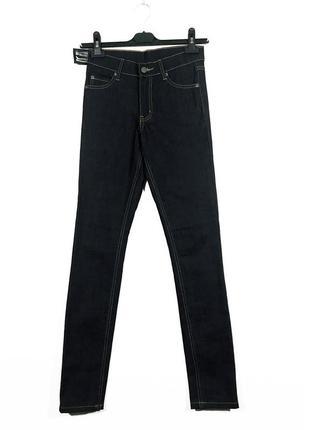 Cheap monday тёмные джинсы скини на высокой посадке1 фото