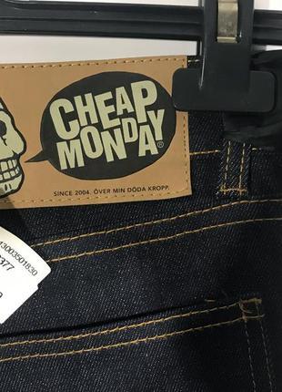 Cheap monday тёмные джинсы скини на высокой посадке4 фото