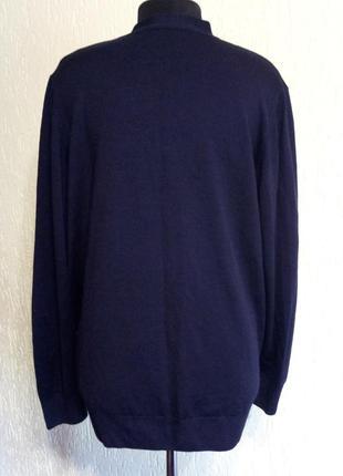 Брендовая кофта на пуговицах, шерстяной кардиган от m&s4 фото