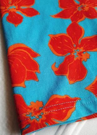Футболка поло с цветочным принтом2 фото